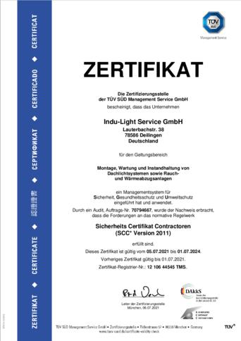 TÜV Zertifizierung seit 2012 / SCC