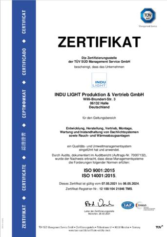 TÜV Zertifizierung seit 1998 / DIN EN ISO 9001:2015