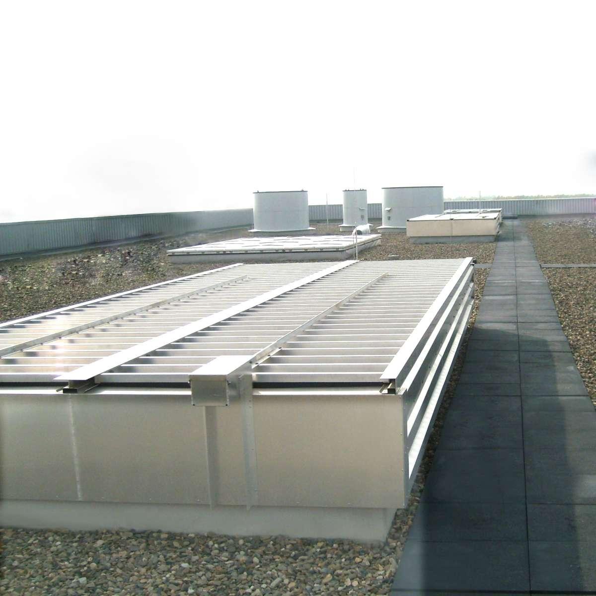 Kraftwerk Salzgitter | Salzgitter •  Labyrinthlüfter Hydraauf dem Kesselhausdach