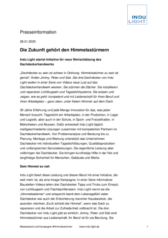 Pressebericht: Himmelsstürmer